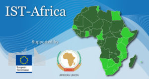 Banner with Map of Africa and Logos of European Commission and African Union