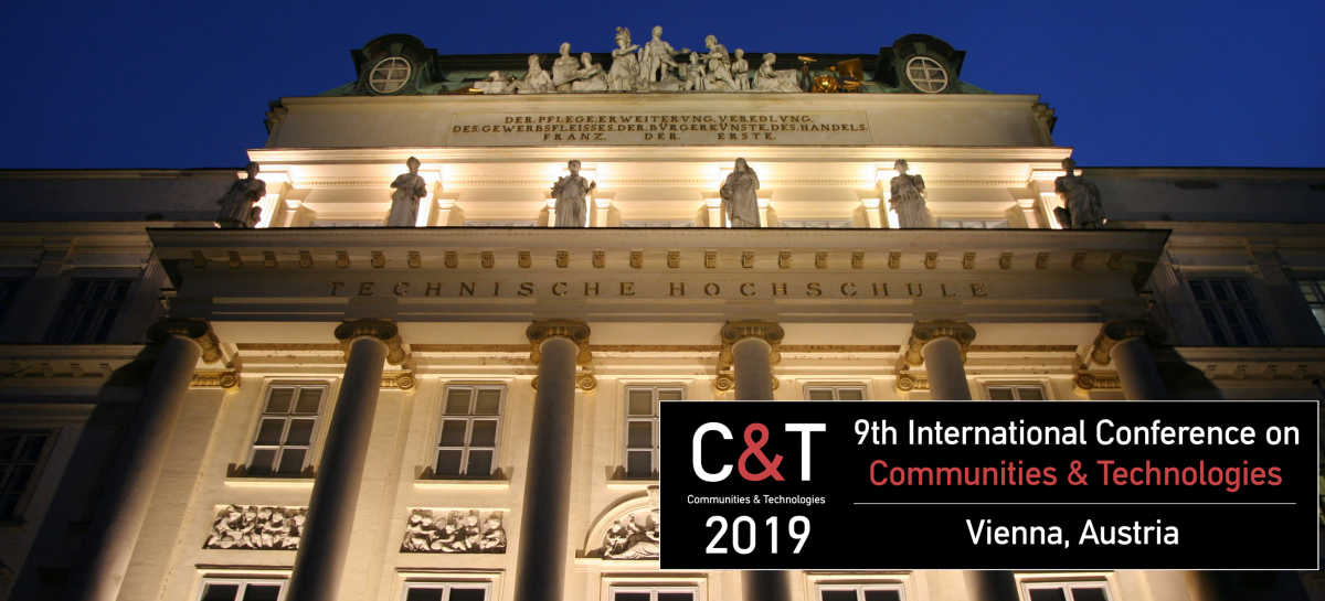 Header image announcing 9th C&T Conference in Vienna